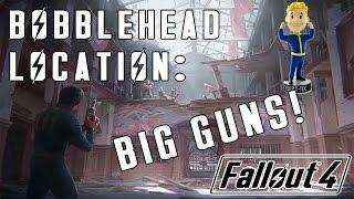 """Fallout 4: """"Big Guns"""" Bobblehead Location - Vault 95!"""