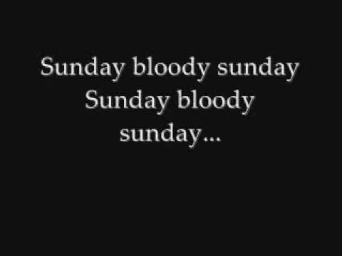 U2 Sunday Bloody Sunday Lyrics