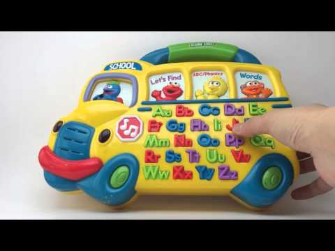Mattel 2000 ABC Phonics Alphabet Sesame Street Muppets School Bus