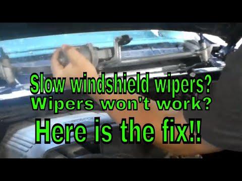 Chevy Silverado GMC Sierra windshield wiper fix