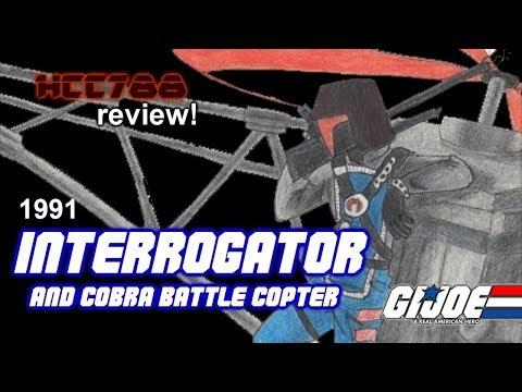 HCC788 - 1991 INTERROGATOR and COBRA BATTLE COPTER - Vintage G.I. Joe toy review!