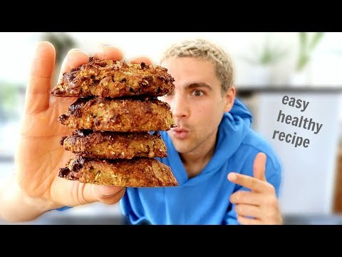 Choc Chunk Peanut Butter Breakfast Cookies | Vegan Baking With Miles ��