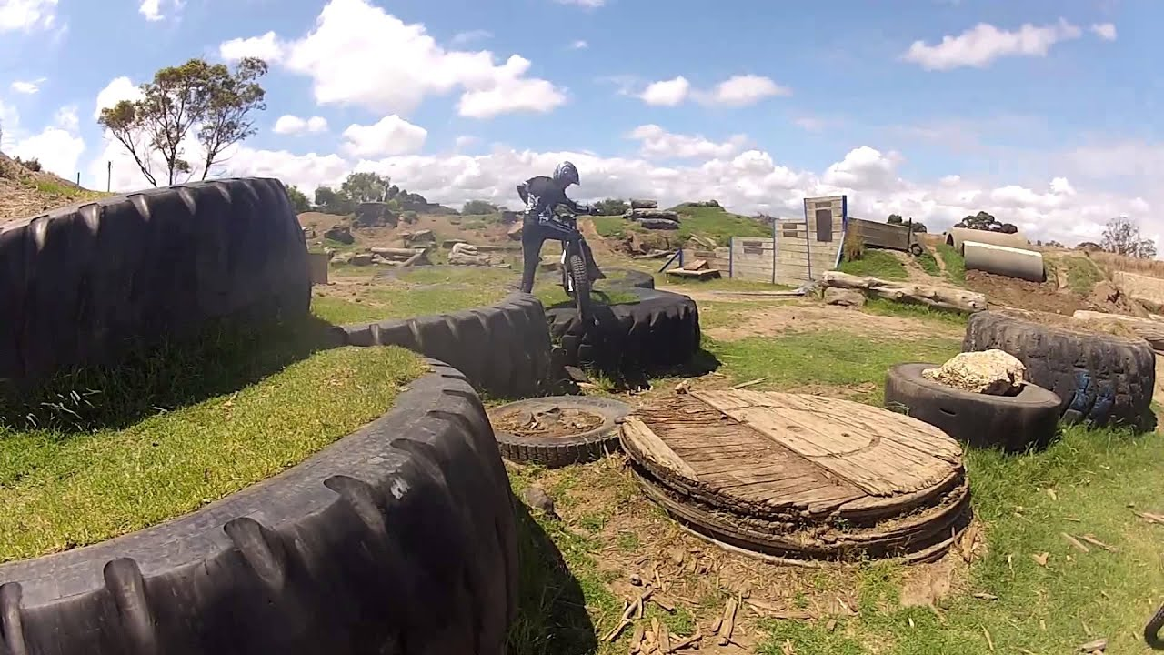 Motorcycle Loading Ramp >> Trials Crashes and Fun Obstacles - YouTube