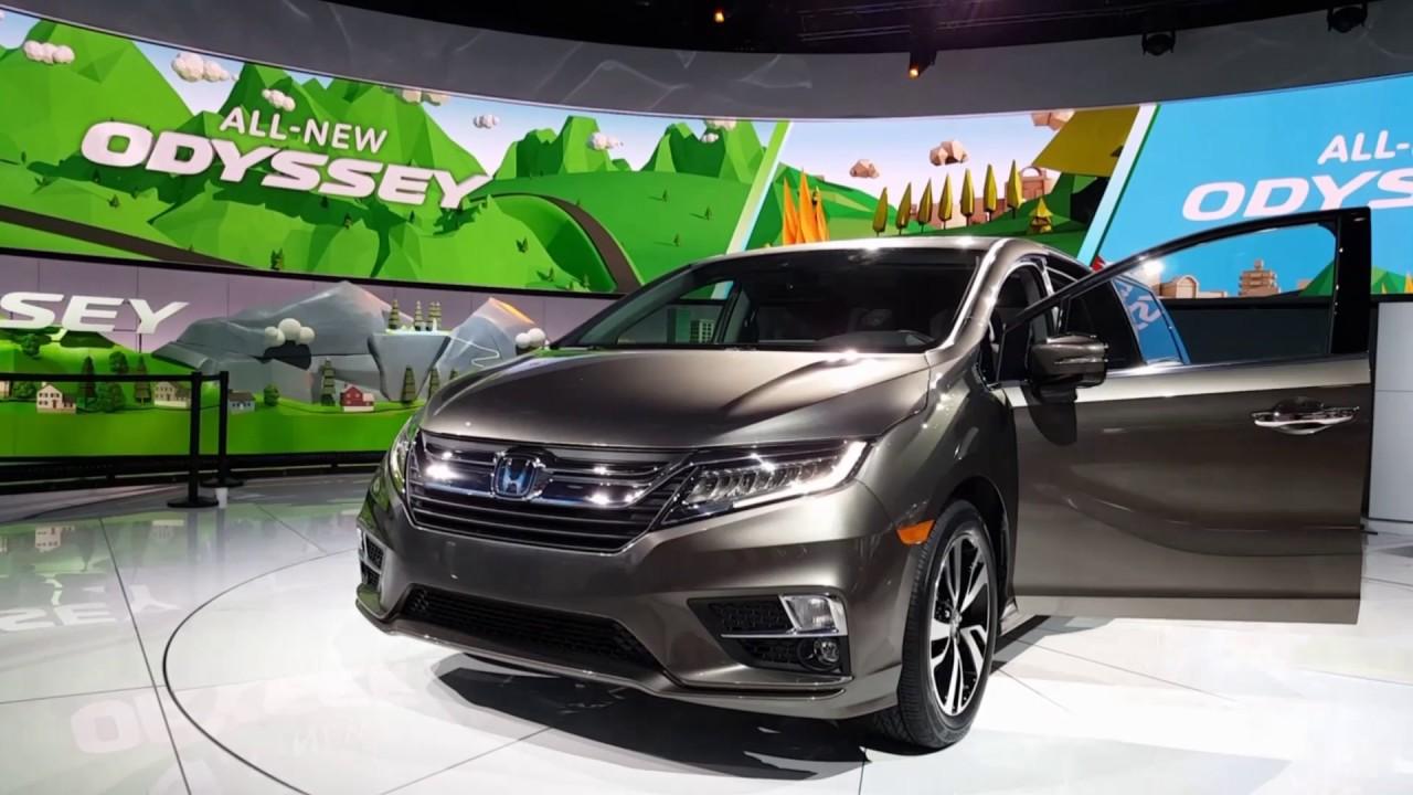 2018 honda odyssey detroit auto show youtube for Detroit auto show honda odyssey