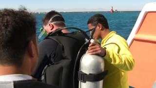 Мое первое погружение под воду с египетским дайв-гидом.