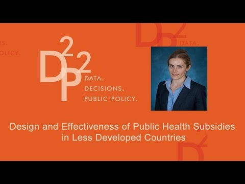 Design and Effectiveness of Public Health Subsidies in Less Developed Countries