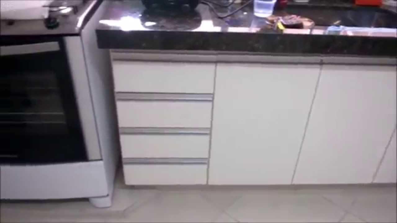 cozinha planejada em mdf branco - YouTube