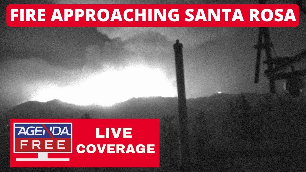 Shady Fire Approaching Santa Rosa - LIVE BREAKING NEWS COVERAGE