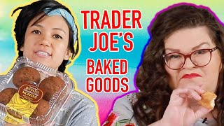 Kristin And Jen Try Every Trader Joe's Baked Good | Kitchen & Jorn