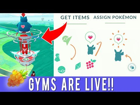 POKÉMON GO GYMS ARE LIVE! LET'S EXPLORE! Pokémon GO Gyms Rew