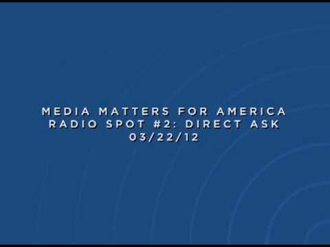 Media Matters Rush Limbaugh Radio Spot #2