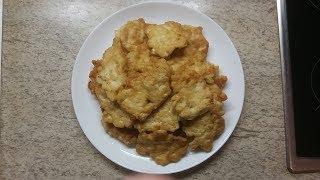 оладьи из куриного филе с майонезом или котлеты куриные рубленые. Видео рецепт. Идея для ужина
