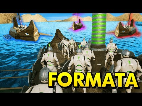BIGGEST NAVAL BATTLES IN FORMATA EVER (Formata New Update Funny Gameplay)