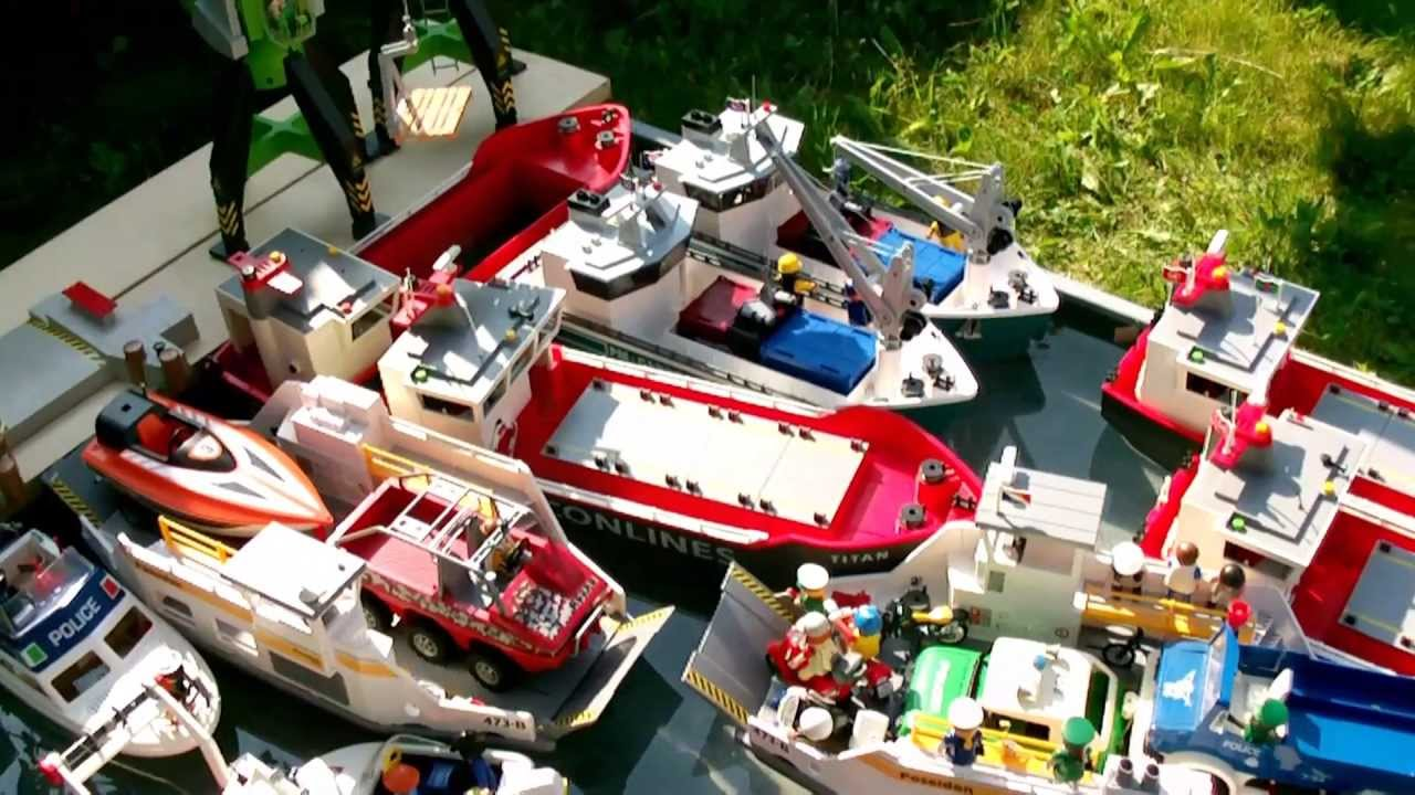 Playmobil Cargo Playmobil Containerschiff Fähre Conlines
