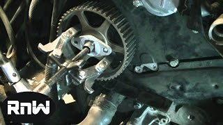 how to replace the timing belt on a vw passat audi a4 a6 2 8l engine part 2