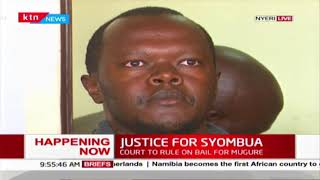 Nyeri Court to rule on bail terms for Major Peter Mugure accused of murdering his estranged wife