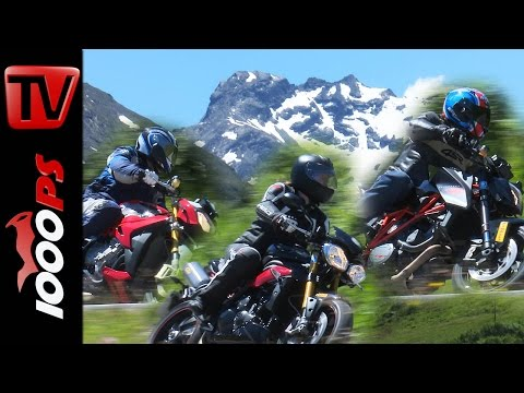 2015 Naked Bike Test Alpen | KTM 1290 Super Duke, Triumph Speed Triple R, BMW S 1000 R Foto