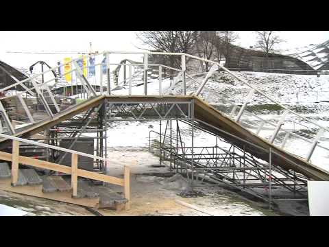 Ice track building - Red Bull Crashed Ice - World Championship series 2011