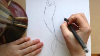 How to draw a mermaid tail
