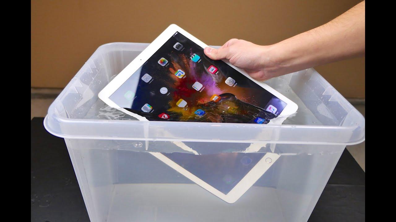 pretty nice c2741 9cfa0 iPad Pro Water Test - Waterproof or Water Resistant?