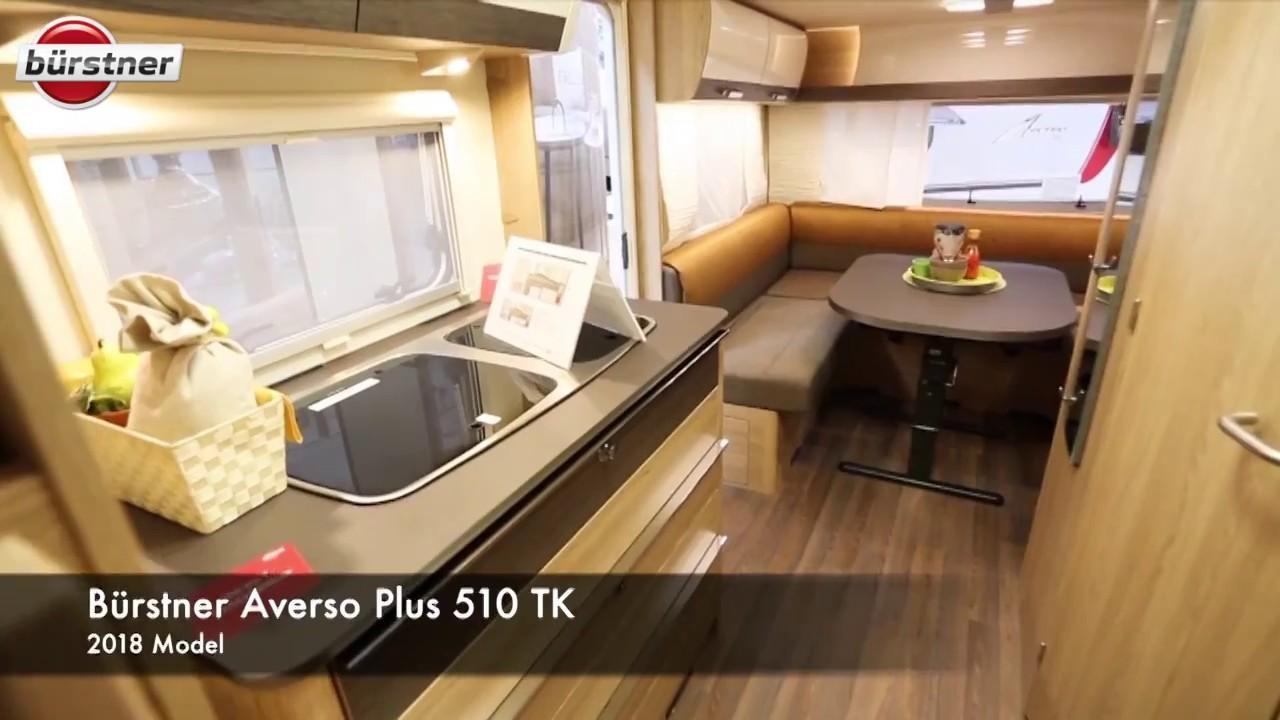 burstner averso plus 510 tk 2018 campingvogn youtube. Black Bedroom Furniture Sets. Home Design Ideas