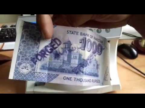 Cash currency note counting machine with fake note detection, value counter in pakistan