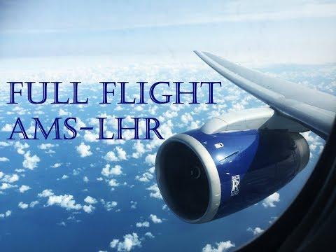 FULL FLIGHT! British Airways Boeing 767-336ER G-BZHC BA429 Amsterdam - London Heathrow