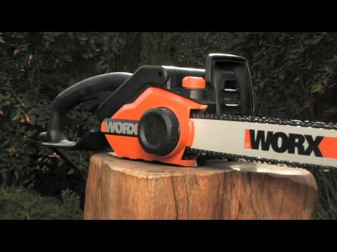 Worx electric chain saw wg303 16 inch 35 hp youtube worx electric chain saw wg303 16 inch 35 hp greentooth Images