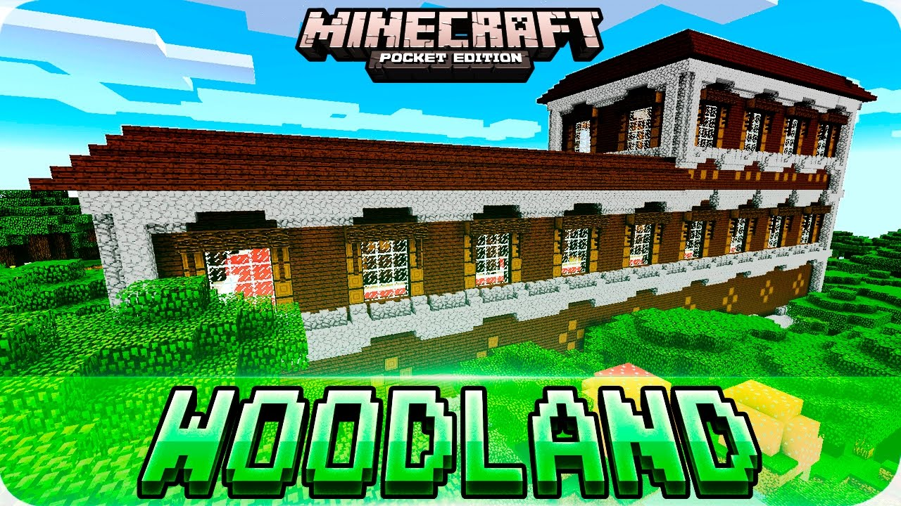Minecraft PE Maps Woodland Mansion In MCPE With Download MCPE - Mapas para minecraft pe 0 15 x