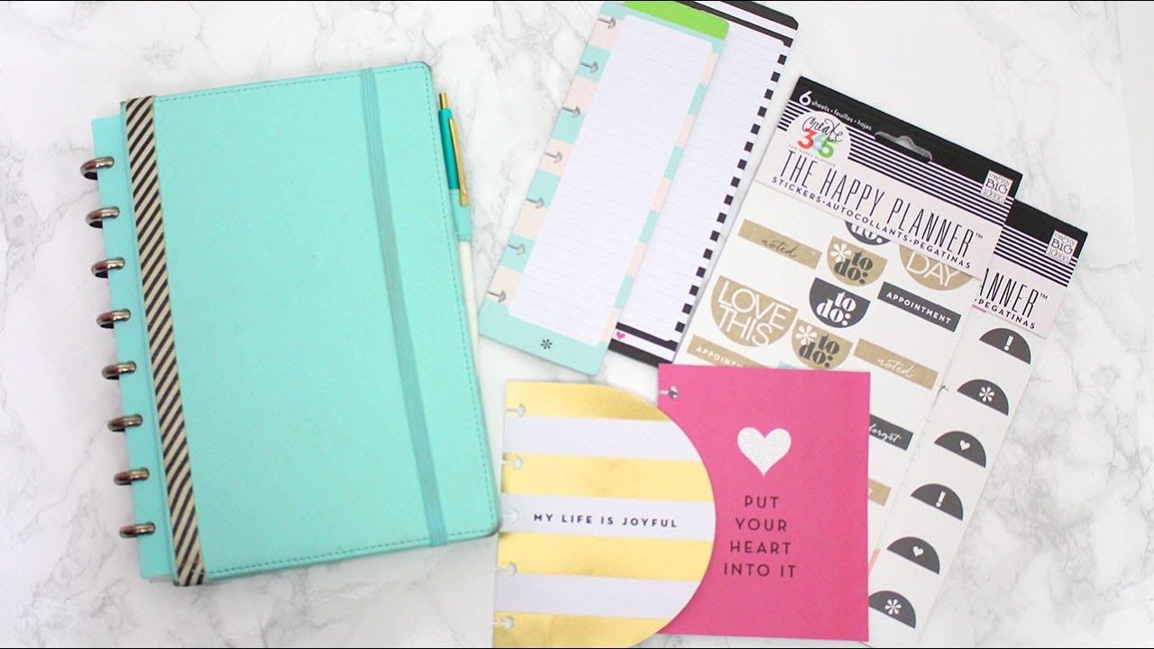 Inside my new planner martha stewart discbound mambi for Happy planner accessories