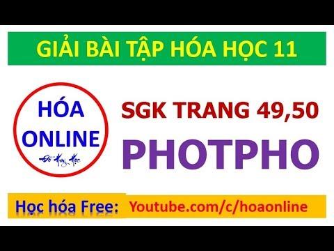 Giải bài tập hóa 11 – Trang 49, 50 – Photpho