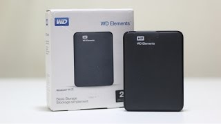 WD Elements 2TB USB 3.0 Hard Disk Unboxing and Review