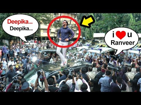 Ranveer Singh's Unbelievable STARDOM- FANS Become MAD & Cause Traffic Jam On Mumbai Roads thumbnail