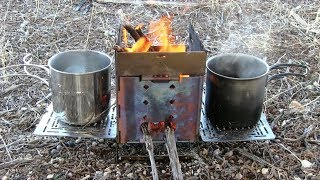 Firebox Camping Stove Hidden Feature Discovered! Warming Rack!