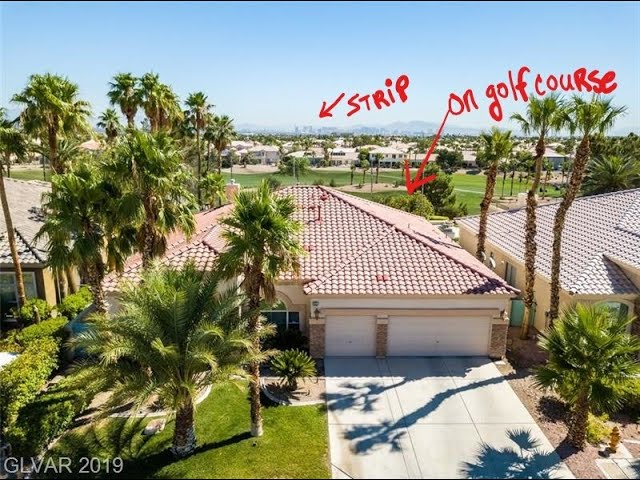 **RARE one-story** Home on Rhodes Ranch Golf Course with Strip views