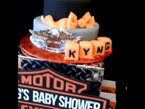 Harley Davidson Baby Shower Sweet Table