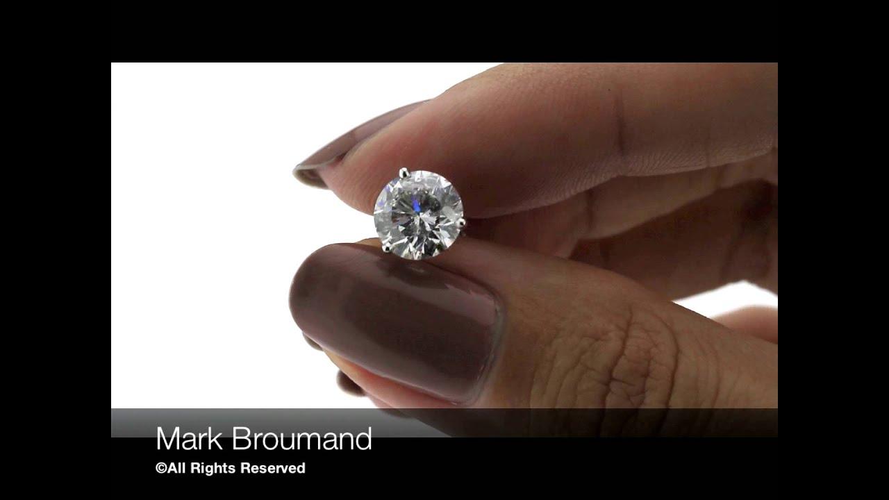 Mark Broumand 4 30ct Round Brilliant Cut Diamond Stud Earrings You