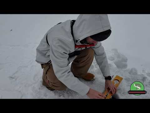 SLAMMING Fish Through The Ice   Ice Fishing