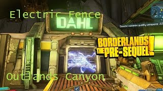 Borderlands: The Pre-Sequel Outlands Canyon Electric Fence