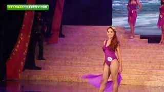 Swimwear Contest: Miss Universe Myanmar 2013 in Yangon