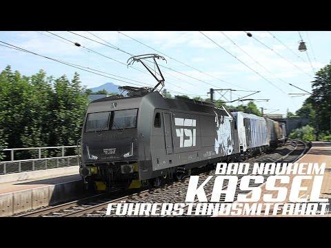 GoPro, Führerstandsmitfahrt Bad Nauheim - Kassel, 4K, Teil 1