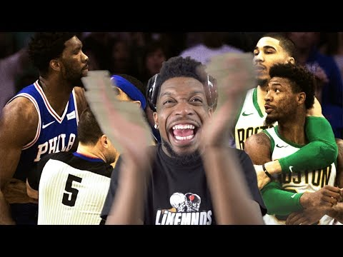 CELTICS CANT BEAT ANYBODY THAT MATTERS! SMART PUNKS EMBIID! CELTICS vs SIXERS HIGHLIGHTS
