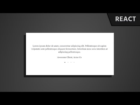 React Tutorial: Create a Testimonial Slider Using React Hooks and Emotion JS ( With 1-Min Summary ) thumbnail