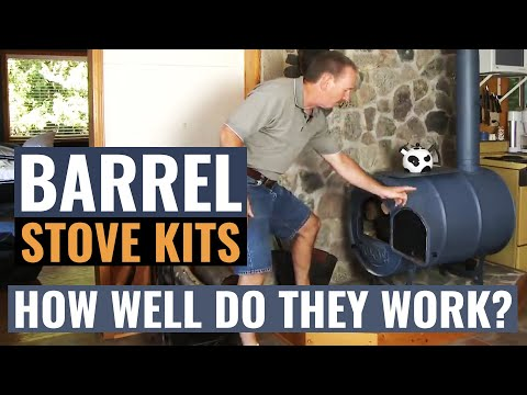 Barrel Stove Kits - How Well Do They Work? - Barrel Stove Kit Another But Best 55 Gallon Drum Stove Build