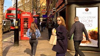 LONDON WALK | Charing Cross Road from Garrick Theatre to Tottenham Court Road Station | England