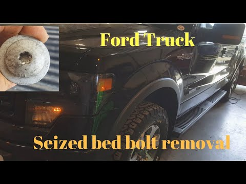 Ford Truck T50 Seized Bed Bolt Removal Youtube