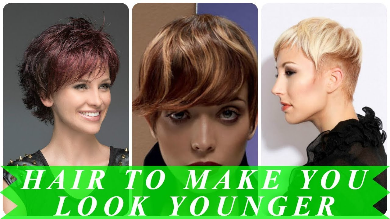 hairstyles to make you look thinner and younger spring 2018 - youtube