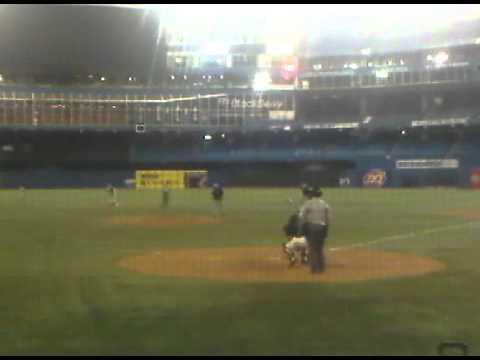 Jay Woodford hits homerun at Skydome, 2010