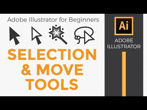 Adobe Illustrator for Beginners Selection and Move Tools - Graphic Design How to
