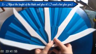 COSPLAY TUTORIAL- EASY AND AFFORDABLE: Kitana's Blade Fans - Mortal Kombat